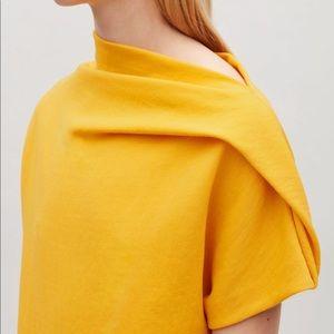 Amazing COS Yellow dress shift stretch S like new